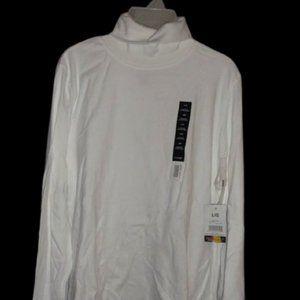 Basic White George Turtleneck Shirt Boy Large NWT